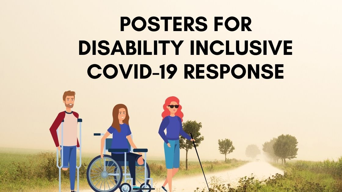 a picture showing people with disability in the road